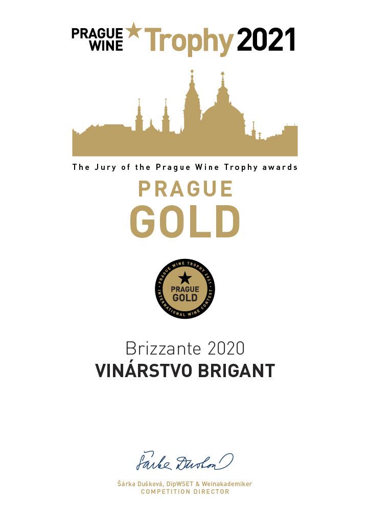 Zlatá medaila pre Brizzante Prague Wine Trophy